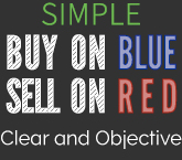 Simple buy on blue sell on red